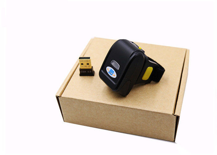 Mini Bluetooth Finger Scanner , Ring Type Laser 1D Wireless USB Barcode Reader DI9030-1D