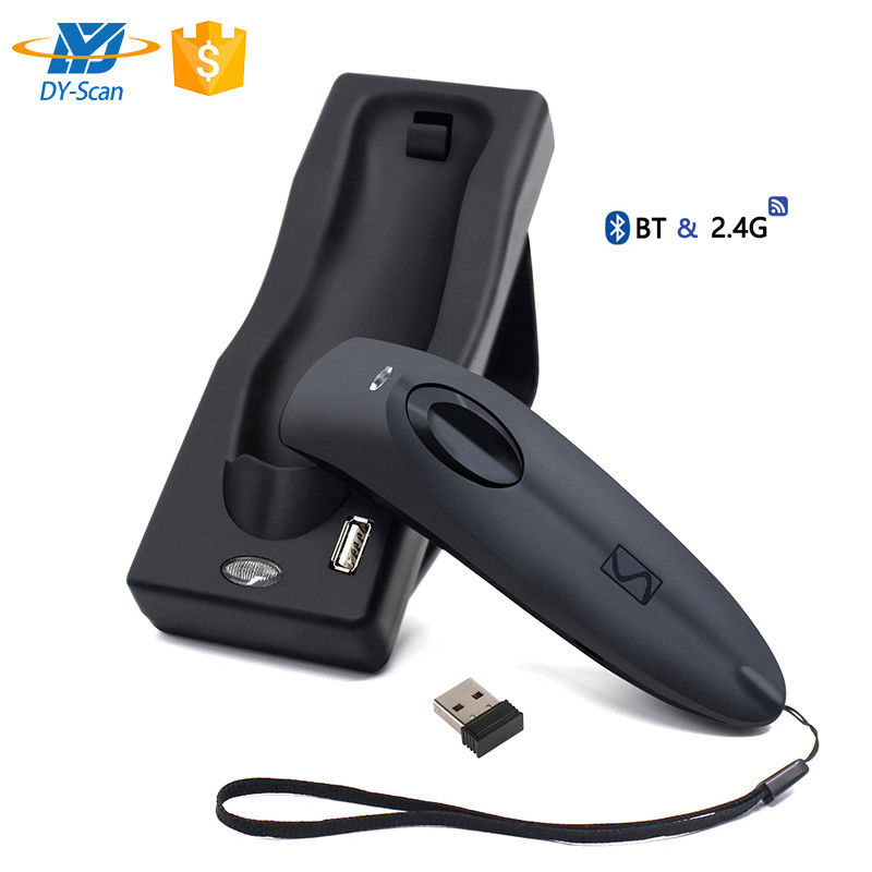 Linear CCD Image Code Wireless Barcode Scanner 1D Bluetooth 2.4G 2500 Resolution